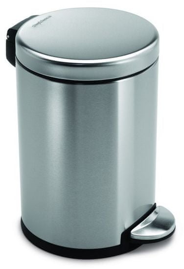 Simplehuman koš za odpadke, 4,5 L, mat jeklo