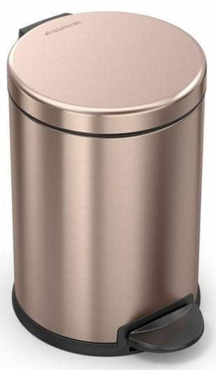 Simplehuman koš za odpadke, 4,5 L, zlato roza
