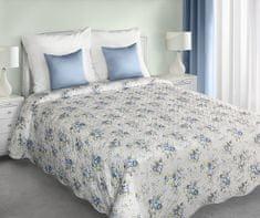 My Best Home Přehoz na postel JENIFER modré květy, 220x240 cm