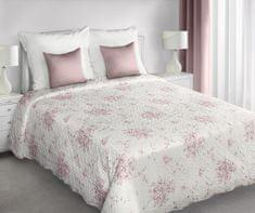 My Best Home Přehoz na postel JENIFER růžové květy, 220 x 240 cm