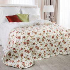 My Best Home Přehoz na postel JENIFER červené růže, 220 x 240 cm