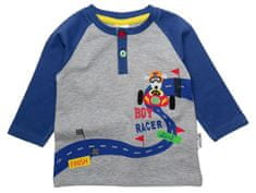 Gelati chlapčenské tričko Racer, 62, sivá/modrá