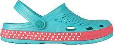 Coqui Dámské pantofle Lindo Turquoise/New Rouge 6415-406-1942