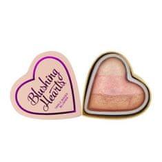 Makeup Revolution Srdcová tvářenka Ledové srdce (Blushing Hearts - Iced Hearts) 10 g