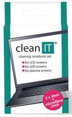 Clean IT Čisticí roztok na notebooky s utěrkou, 2 × 30 ml CL-182