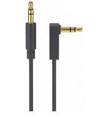 Goobay AUX Audio Connector kabel, 3.5 mm stereo; 3-pin slim CU kotni, 1,5 m