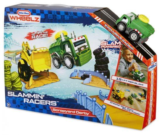 Little Tikes Slammin' Racers Nori avtomobili: Dvoboj na odcepu