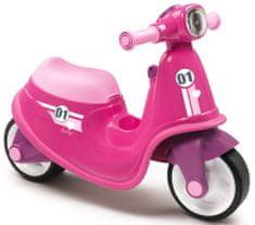 Smoby Pedál nélküli gyerekkerékpár, játék robogó, rózsaszín