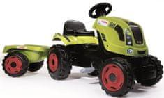 Smoby otroški traktor s pedali in priklopnikom Class, zelen