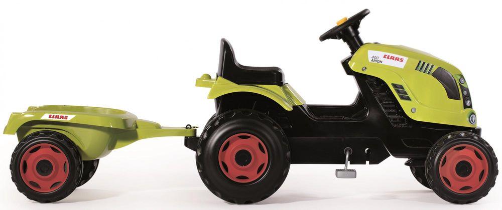 Smoby Šlapací traktor Class zelený s vozíkem