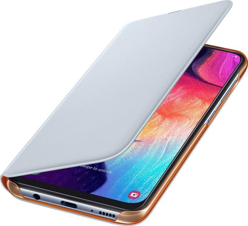 Samsung Galaxy A50 Flip Wallet Cover, bílý EF-WA505PWEGWW