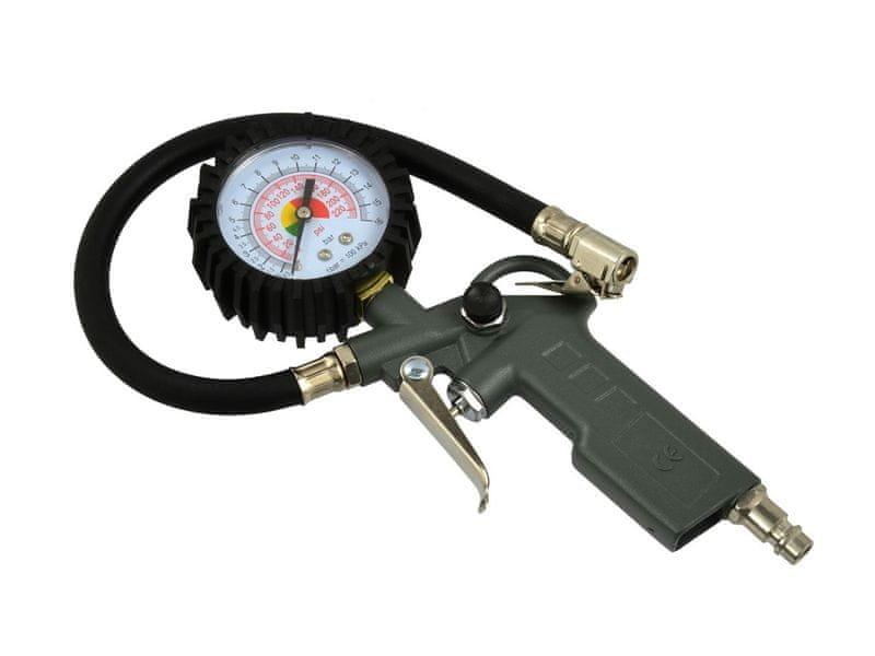GEKO Pistole foukací s manometrem, max. tlak 8bar