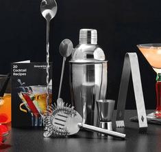 InnovaGoods komplet za mešanje koktajlov z recepti Kitchen Sommelier, 6 delov
