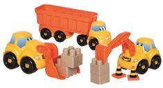 ECOIFFIER Zestaw samochodów budowlanych Abrick