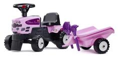 Falk Traktor Princess s volantem a valníkem, hrabičky
