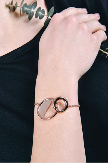 Calvin Klein Locked aranyozott luxus karkötő KJ8GJB1001
