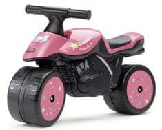 Falk Odstrkovadlo - motorka Rainbow star růžová
