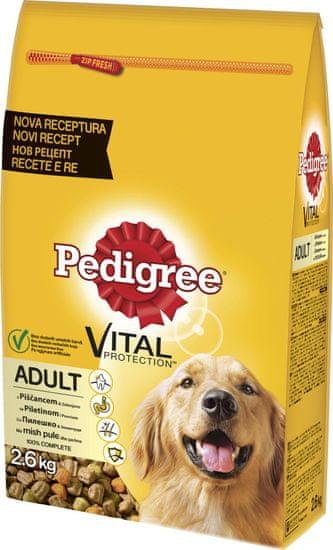 Pedigree suha hrana za odrasle pse, govedina/zelenjava, 2,6 kg