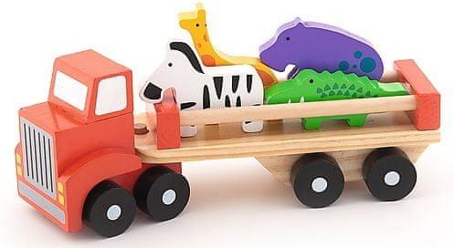 Trefl Auto nákladní safari dřevěné 26,5cm