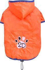 Doggy Dolly dežni plašč, 2 tački, oranžen, L