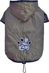 Doggy Dolly dežni plašč 2 tački za buldoge, rjav, S