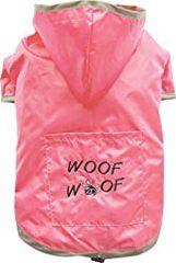 Doggy Dolly dežni plašč 2 tački za velike pse, roza, XS