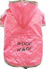 Doggy Dolly dežni plašč 2 tački, za buldoge, roza, M