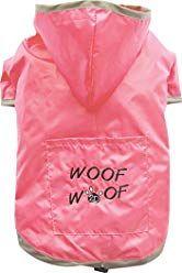 Doggy Dolly dežni plašč 2 tački, za buldoge, roza