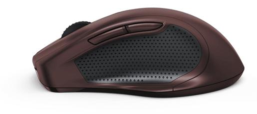 HAMA mysz bezprzewodowa MW800, bordowy