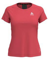 ODLO ženska majica Top Ceramicool Element, XS, rdeča