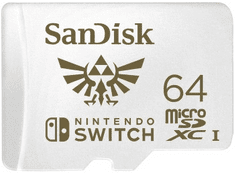 SanDisk microSDXC Nintendo Switch 64 GB 100 MB/s A1 C10 V30 UHS-1 U3 (SDSQXAT-064G-GNCZN)