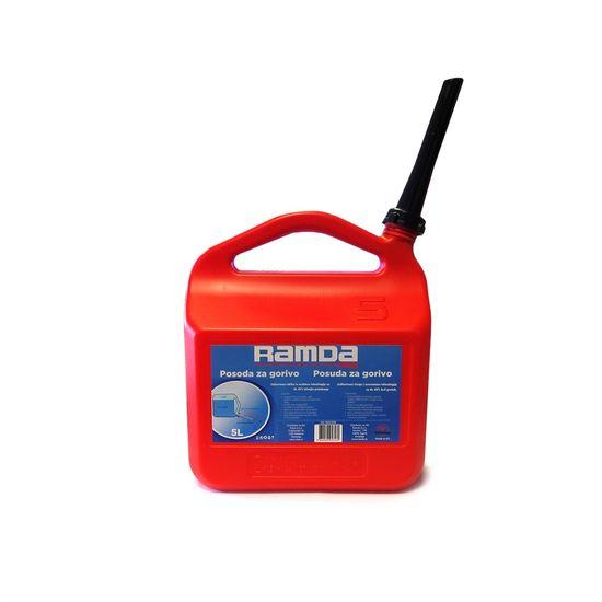 Ramda spremnik za gorivo, crveni, s nastavkom za nalijevanje, 5L