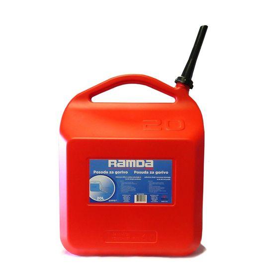 Ramda spremnik za gorivo, crveni, s nastavkom za nalijevanje, 20L