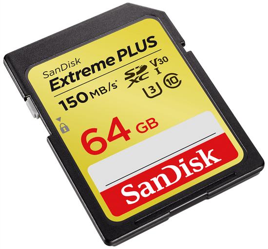 SanDisk Extreme Plus SDXC memorijska kartica, 64GB, 150 MB/s
