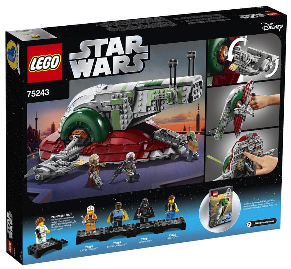 LEGO Star Wars™ 75243 Slave I™ – edice k 20. výročí - rozbaleno