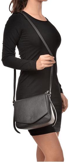 Carla Ferreri Ženski usnjeni crossbody torbici AW19CF1398 Nero