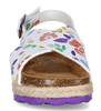 PAEZ dievčenské sandále Bio cross flowery 26 biela