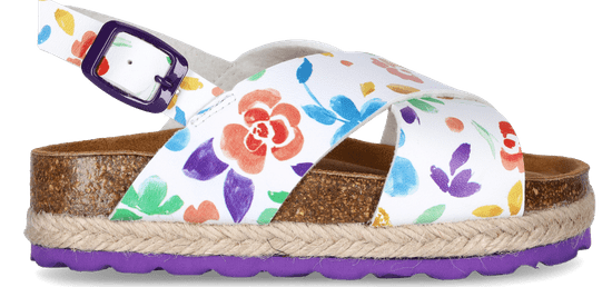 PAEZ dievčenské sandále Bio cross flowery