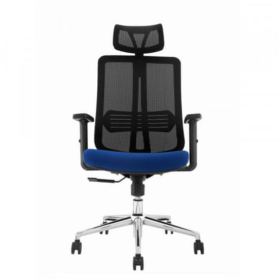 Pisarniški stol Lavanda, modra/črna - Odprta embalaža