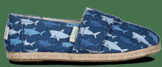PAEZ chlapčenské espadrilky Print Sharks