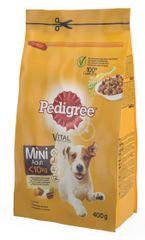 Pedigree suha hrana za manje pse, perutnina/povrće, 400 g