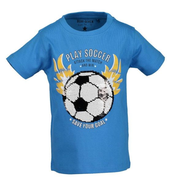 af7ee3e349 Blue Seven chlapecké tričko s flitry 104 modrá