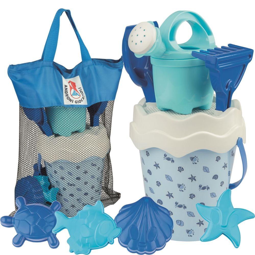 Androni Set na písek v praktické tašce Mušličky modré