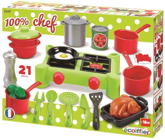 Ecoiffier štedilnik s kuharskimi pripomočki