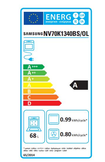 Samsung električna pećnica NV70K1340BS/OL