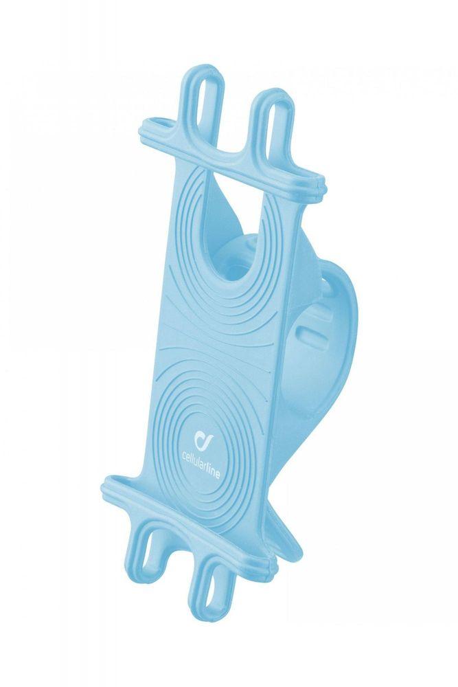 CellularLine Univerzální držák Bike Holder pro mobilní telefony k upevnění na řídítka, modrý (BIKEHOLDERCOLB)