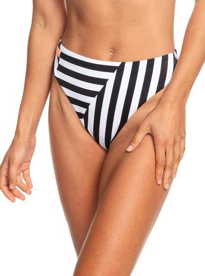00f94c020f Roxy Plavkové kalhotky Pop Surf Reg High Leg Bottom True Black Victoria  Stripes Sw ERJX403710-