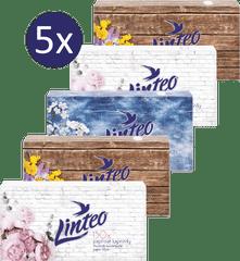 LINTEO Papierové vreckovky v krabičke 5 x 150 ks