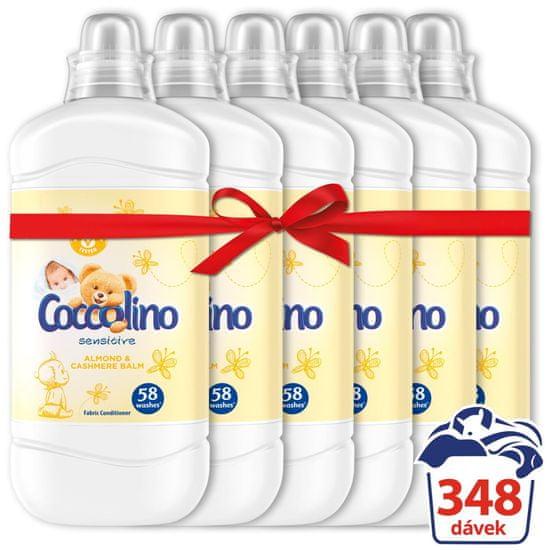 Coccolino Sensitive Cashmere &Almond omekšivač, 6x 1,45 L