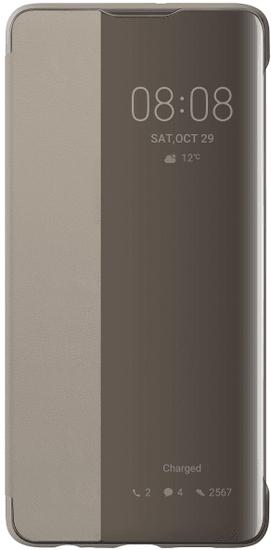 Huawei preklopna torbica Huawei P30 Smart View, kaki, z okenčkom